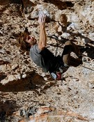 Chris Sharma en Neanderthal, 9b. Foto: Pete O