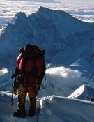Carlos Soria a 8450m en el Everest