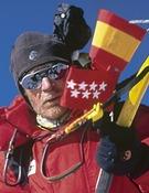Carlos Soria (dcha) y Jorge Palacios en el K2.