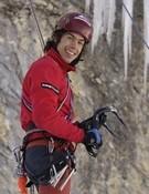 Manu Cordova del equipo de jóvenes alpinistas.