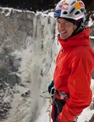 Will Gadd en las Canadians Waterfall. Foto Arcteryx.com
