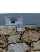 Vandalismo en el depósito de aguas de Margalef