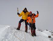 Juan García y Pablo Martín en la cumbre del Monte Vinson