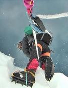 Las nevadas añaden dificultad a la ascensión. Foto: Carlos Pauner