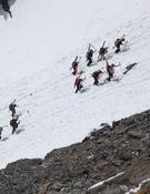 Las patrullas, en plena ascensión. Foto: PDG 2010