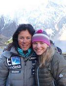 Kinga y Edurne, dos mujeres en la cima del Annapurna. Foto: Col. K. Baranowska