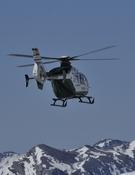 Helicóptero de rescate de la Guardia Civil. Foto: Darío Rodríguez / Desnivelpress