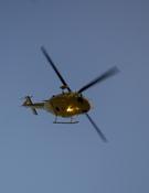 Un helicóptero de rescate. Foto: Darío Rodríguez / Desnivelpress