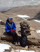 Edurne, cerca del CB del Shisha Pangma. Foto: RTVE - Al filo de lo imposible