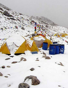 Campo base de Shisha Pangma.