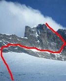 Ruta de Denis en el Lhotse