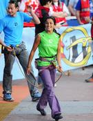 Daila Ojeda en la vía de la final. Foto ©Rafa Ruiz