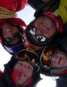Los cuatro alpinistas. Foto: GMHM