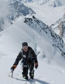 Juan Vallejo ascendiendo al Pico Pastora.