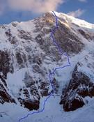 El Monte Foraker, con