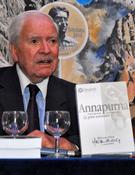 Herzor en la presentación del libro Annapurna primer ochomil en la Librería Desnivel.