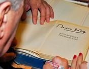 Herzor en la presentación del libro Annapurna primer ochomil en la Librería Desnivel. Foto ©Sergio Prieto