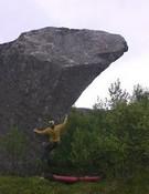 Rough Gem 8B in Lofoten at 3 A.M.