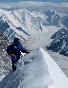 Juan Vallejo en la cumbre norte del Broad Peak