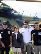 El equipo antes de volar
