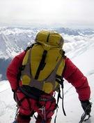 Carlos Soria durante un descenso. Foto: Tente Lagunilla