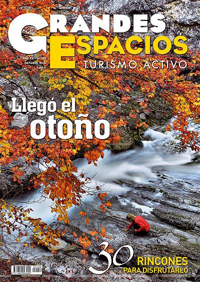 Portada de la revista Grandes Espacios nº159 del mes de octubre de 2010. Foto: Manuel Mata...