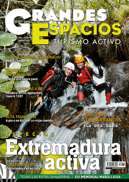 Portada de la revista Grandes Espacios nº164 (marzo 2011) en alta