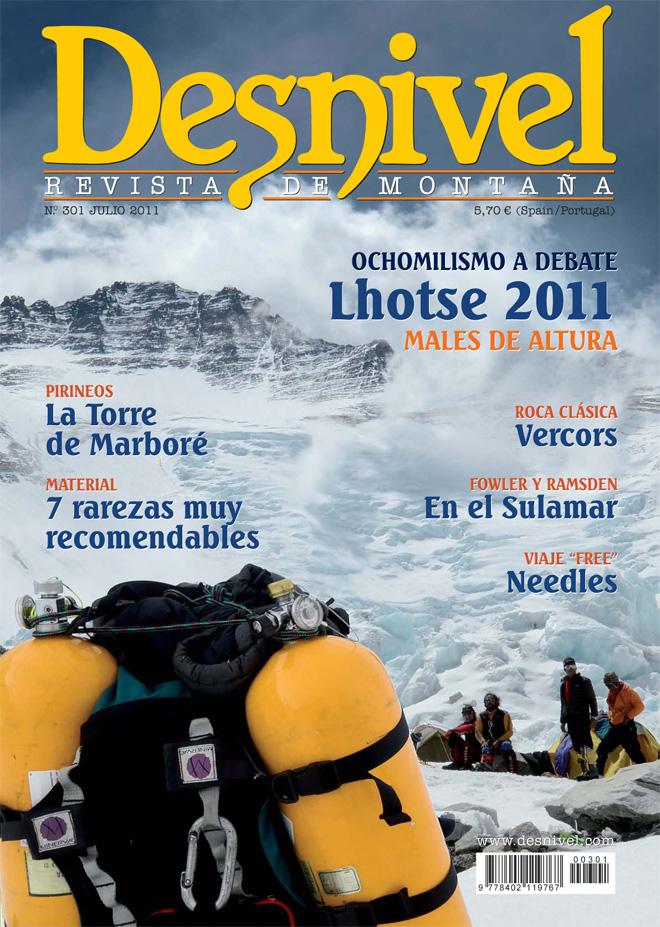Portada de la revista Desnivel nº301 (julio 2011) en ALTA