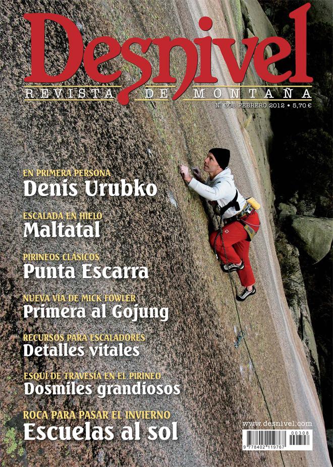 Portada de la revista Desnivel nº308 (febrero de 2012) en ALTA
