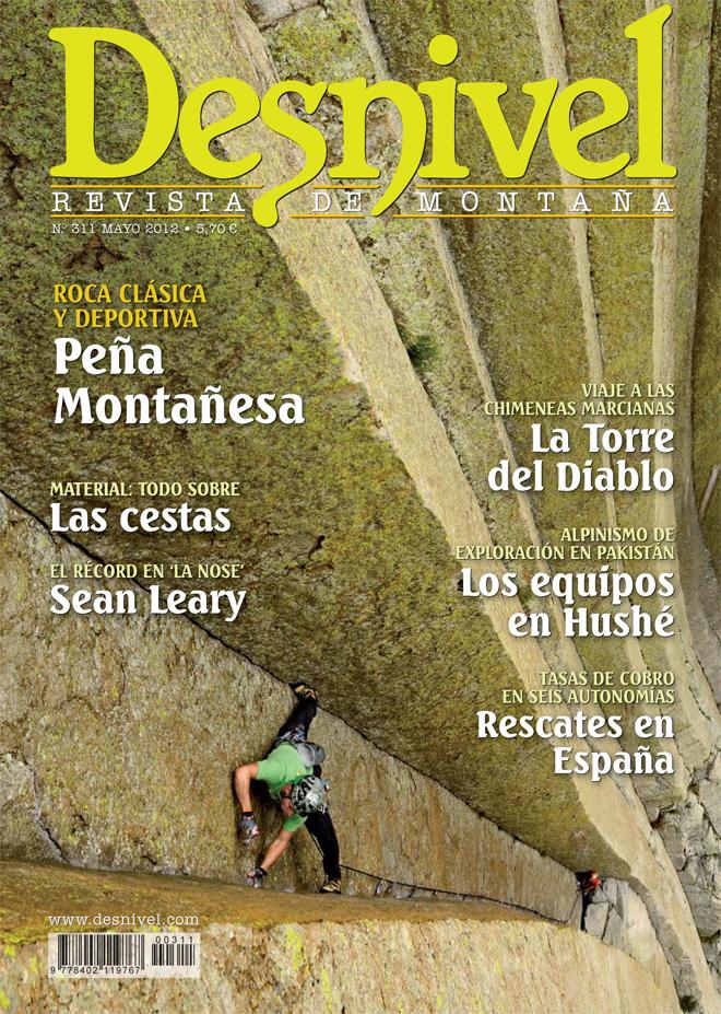 Portada de la revista Desnivel nº311 (mayo 2012) en ALTA