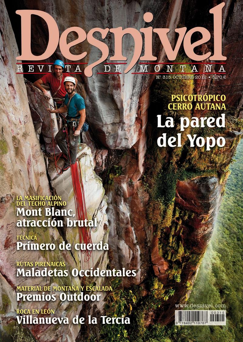 Portada de la revista Desnivel nº315 (octubre 2012) en ALTA