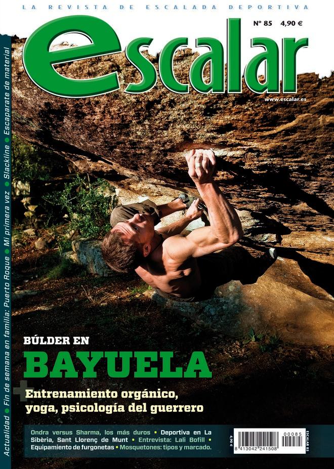 Portada de la revista Escalar nº 85. Marzo-Abril 2013. ALTA