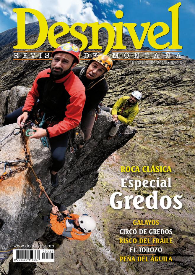 Portada de la revista Desnivel nº 324. Junio 2013. Especial Gredos [WEB]