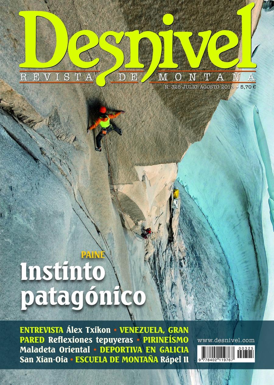 Portada de la revista Desnivel 325, instintos alpinos [WEB]
