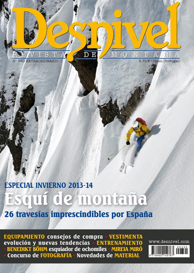 Portada de la revista Desnivel nº 330. Especial Invierno 2013-2014 [WEB]