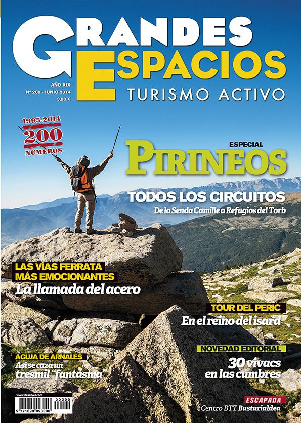Portada de la revista Grandes Espacios nº 200. Especial Pirineos [WEB]