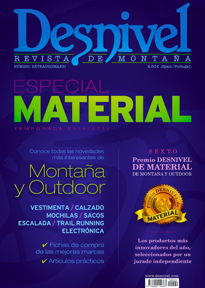 Portada de la revista Especial Material de Montaña y Outdoor de Desnive 2014/2015 [WEB]