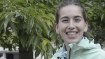 La corredora de canicross (carreras con perros) Leire Fernández 2014