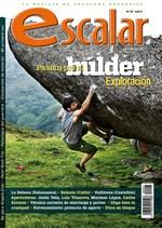 Portada de la revista Escalar nº 95.  Pasión por el búlder exploración. [BAJA]