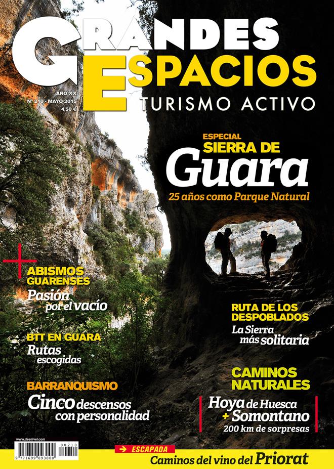 Portada de la revista Grandes Espacios nº 210 Especial Guara. Mayo 2015 [WEB]