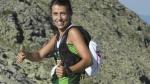 Gemma Arenas, ganadora, cerca de la cima de Peñalara. Gran Trail Peñalara 2015