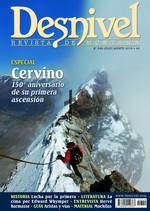Portada de la revista Desnivel nº 349. Julio 2015. ESPECIAL Cervino 150º aniversario de su primera ascensión [BAJA]
