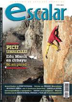 Portada de la revista Escalar 99. Edu Marín en Orbayu 8c en pared [NO USAR]