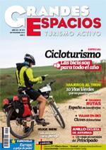 Portada de la revista Grandes Espacios Especial Cicloturismo. Septimbre 2015.  [BAJA]