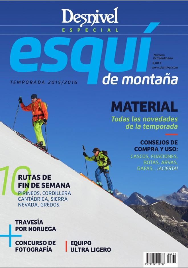 Portada de la revista Desnivel nº 353 Especial Esquí de Montaña 2015. [WEB]