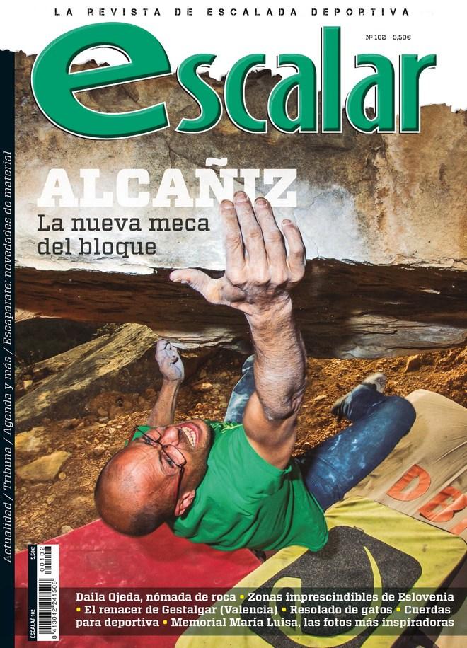 Portada de la revista Escalar nº 102. Especial Alcañiz. [WEB]