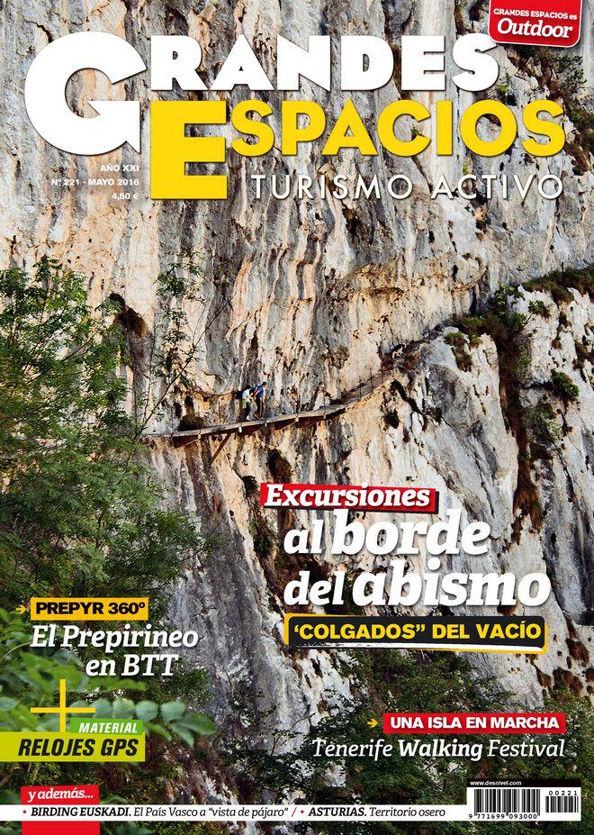 Portada de la revista Grandes Espacios nº 211. Especial Excursiones al borde del abismo. [WEB]