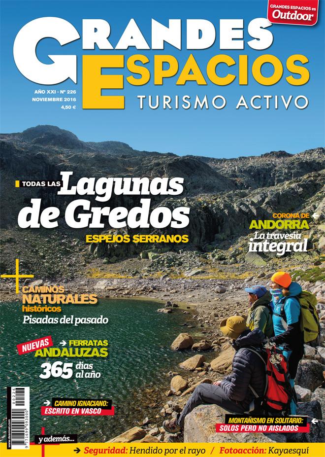 Portada Grandes Espacios nº 226. Especial Lagunas de Gredos. Noviembre 2016