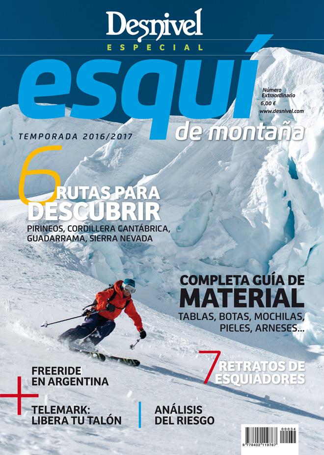 Portada de la revista Desnivel nº 365 Especial Esquí de Montaña 2016/17.