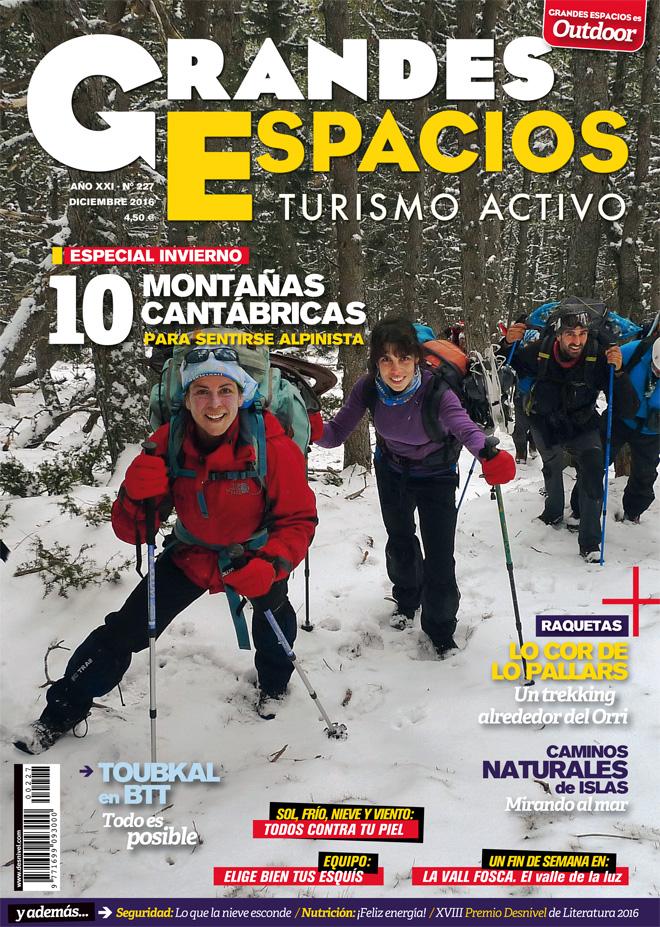 Portada de la revista Grandes Espacios 277. Especial Invierno. 10 Montañas Cantábricas.